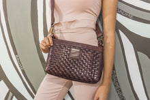 Load image into Gallery viewer, Weaved Leather Crossbody Bag-Poppy Street
