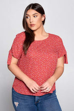 Load image into Gallery viewer, Polka Dot Scoop Neck Top Curvy-Poppy Street