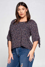 Load image into Gallery viewer, Multi-Color Print Shoulder Top Curvy-Poppy Street