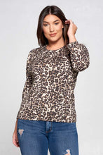 Load image into Gallery viewer, Leopard Scoop Neck Top Curvy-Poppy Street