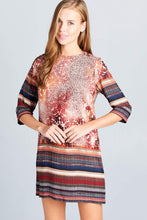 Load image into Gallery viewer, Boho Print Dress-Poppy Street