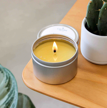 Load image into Gallery viewer, Oakmoss + Amber Tin Candle-Poppy Street