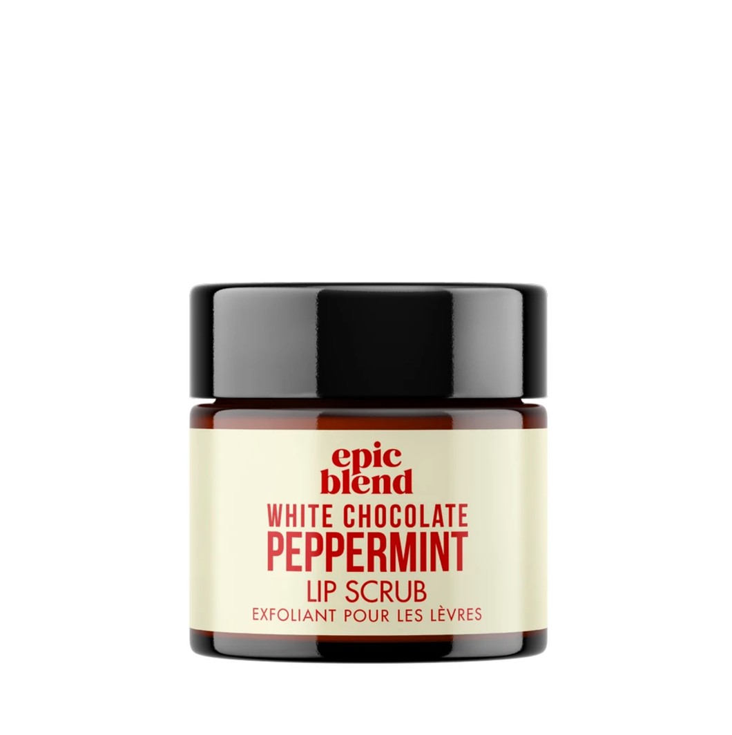 White Chocolate Peppermint Lip Scrub-Poppy Street
