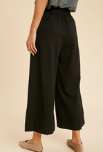 Load image into Gallery viewer, Shirred Waist Wide Leg Pants-Poppy Street