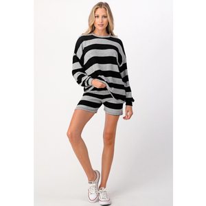 Striped Relaxed Lounger Shorts Set