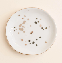 Load image into Gallery viewer, White Gold Speckled Jewelry Dish-Poppy Street