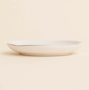 White Gold Speckled Jewelry Dish-Poppy Street