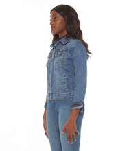 Load image into Gallery viewer, Gabriella The Classic Denim Jacket Stone Blue-Poppy Street