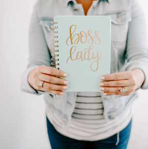 Boss Lady Mint Spiral Notebook-Poppy Street