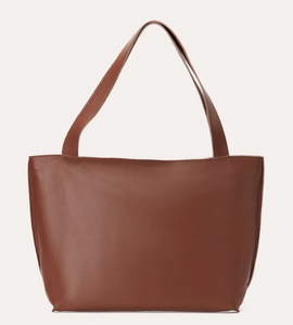 On The Go Leather Tote-Poppy Street