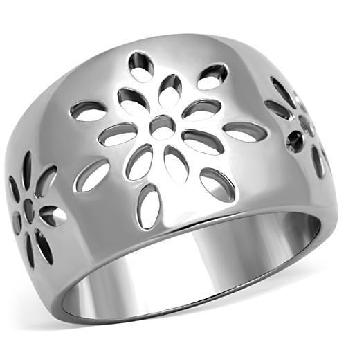 Stainless Steel Petal Cutout Ring-Poppy Street