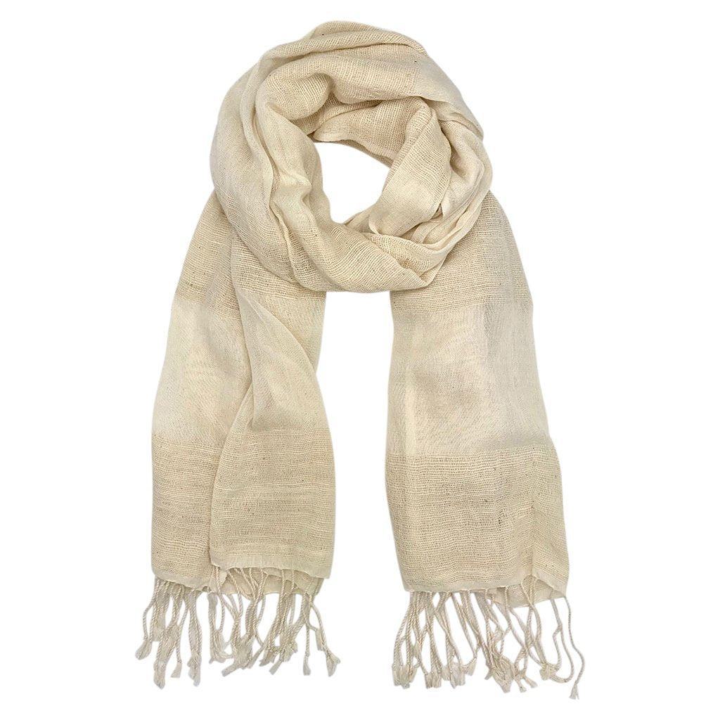 Cream Organic Cotton Gauze Scarf-Poppy Street
