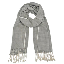 Load image into Gallery viewer, Gray Organic Cotton Gauze Scarf-Poppy Street
