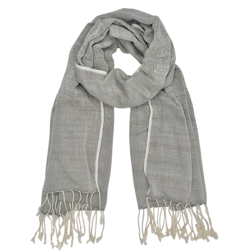 Gray Organic Cotton Gauze Scarf-Poppy Street