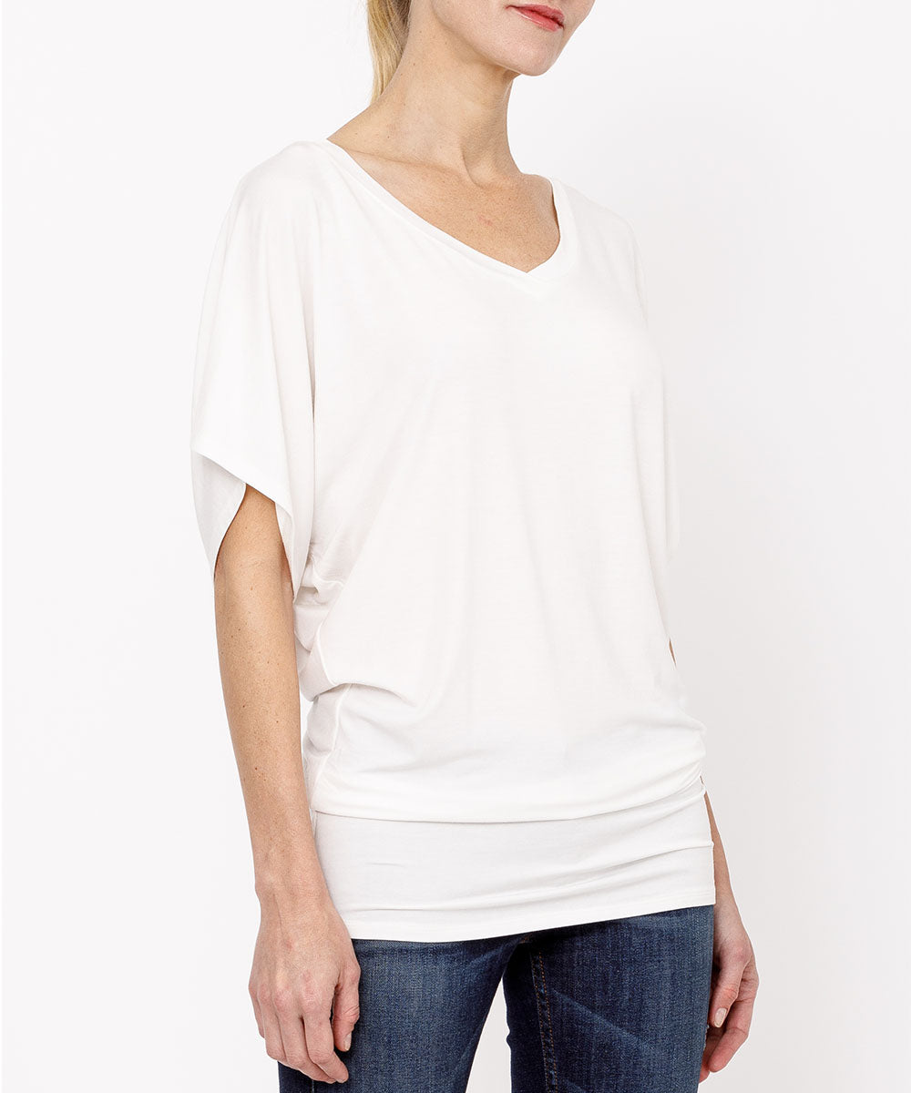 Bamboo V-Neck Tunic-Poppy Street