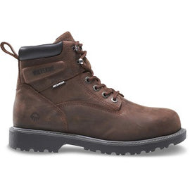 "MEN'S WOLVERINE™ - FLOORHAND WATERPROOF STEEL-TOE 6"" DARK BROWN"