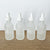 Black or White Frosted Glass 2 oz w Dropper (4 pc)