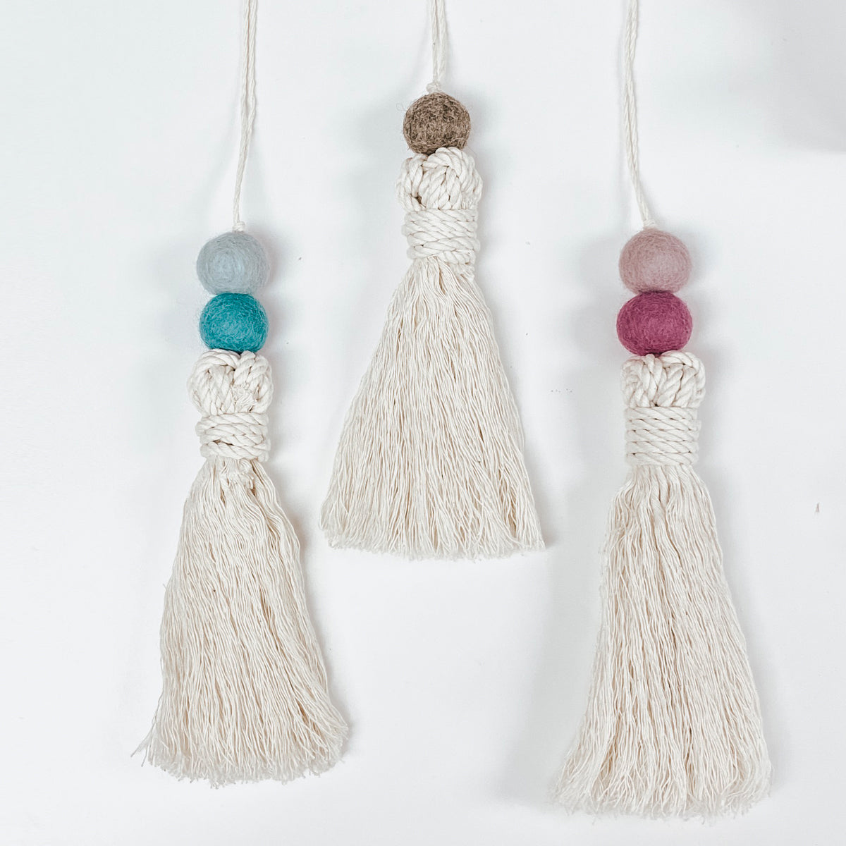 Large Tassle with Colorful Felt Ball