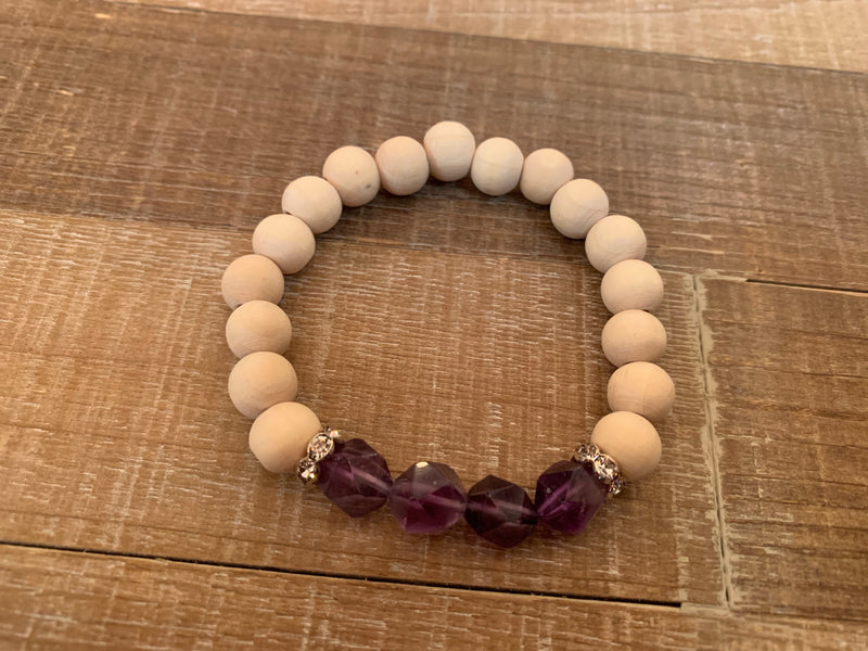 Natural Stone Wooden Bead Bracelets