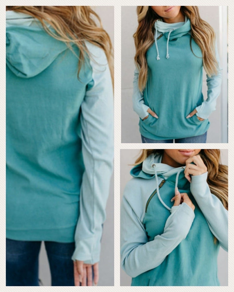 Ampersand Double Hoodie Rising Tide