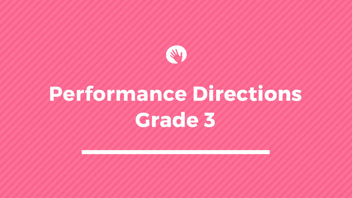 Grade 3 Performance Directions