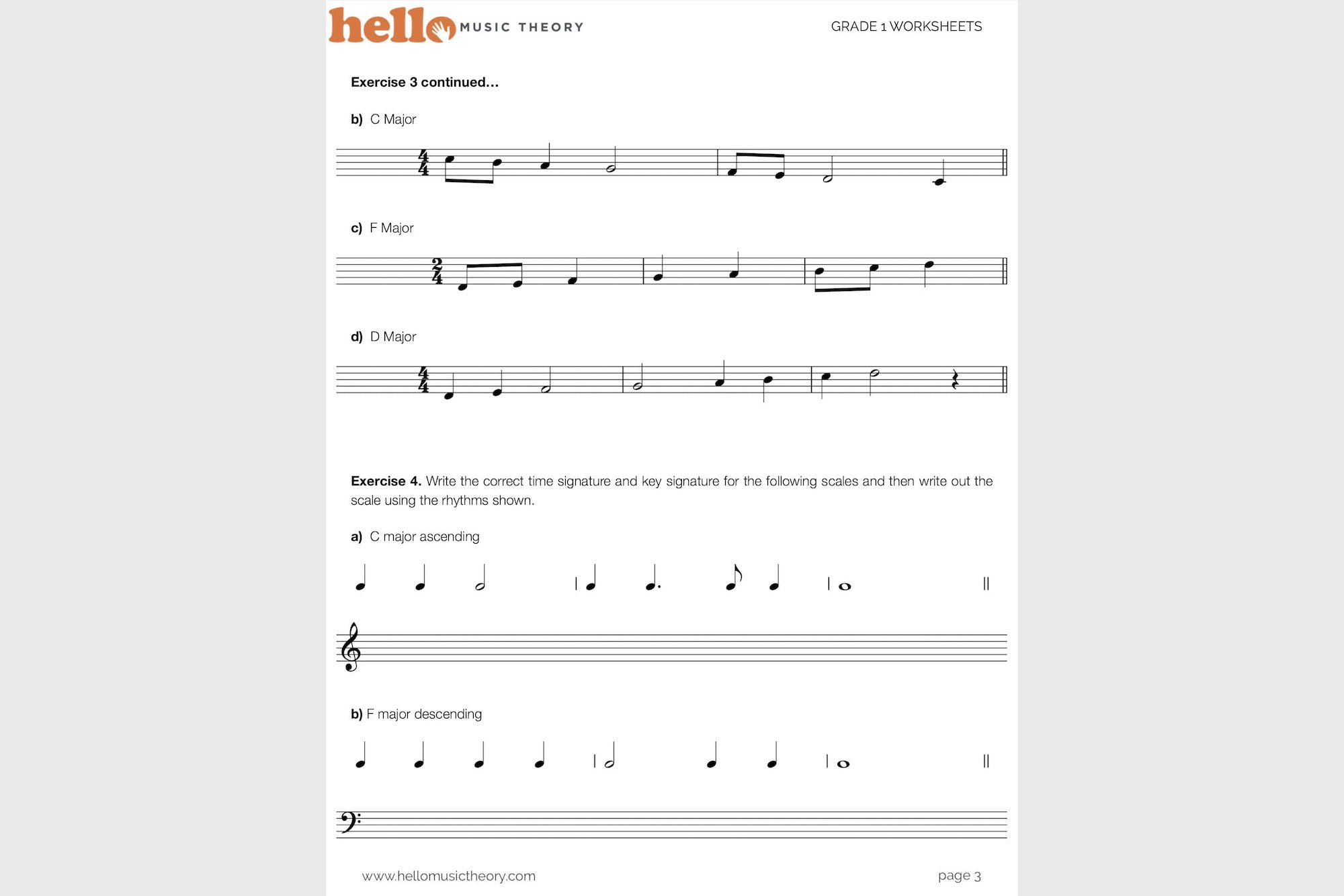 Worksheets Theory Worksheets grade 1 music theory worksheets hello pack