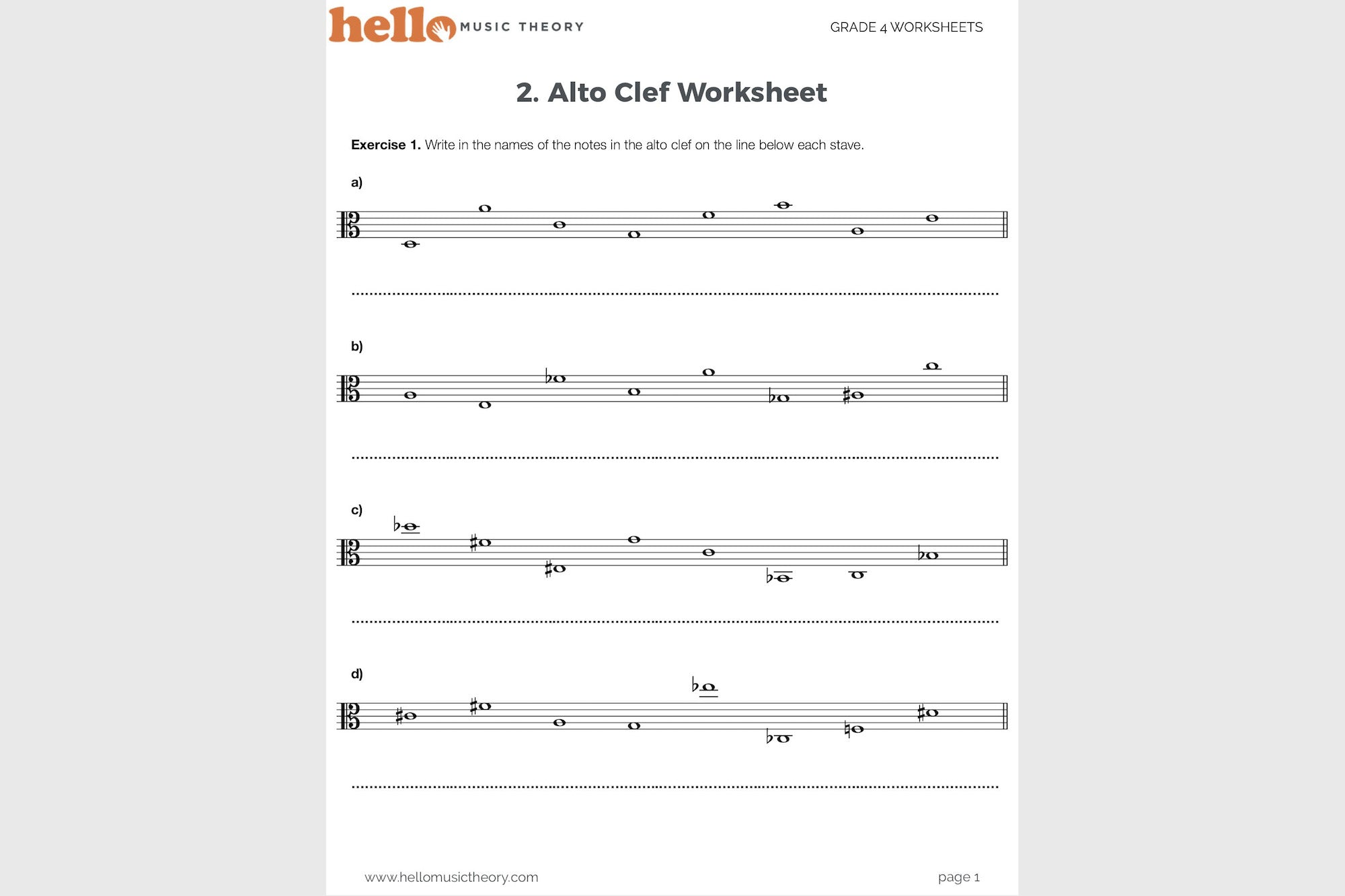 Worksheets Theory Worksheets grade 4 music theory worksheets hello pack