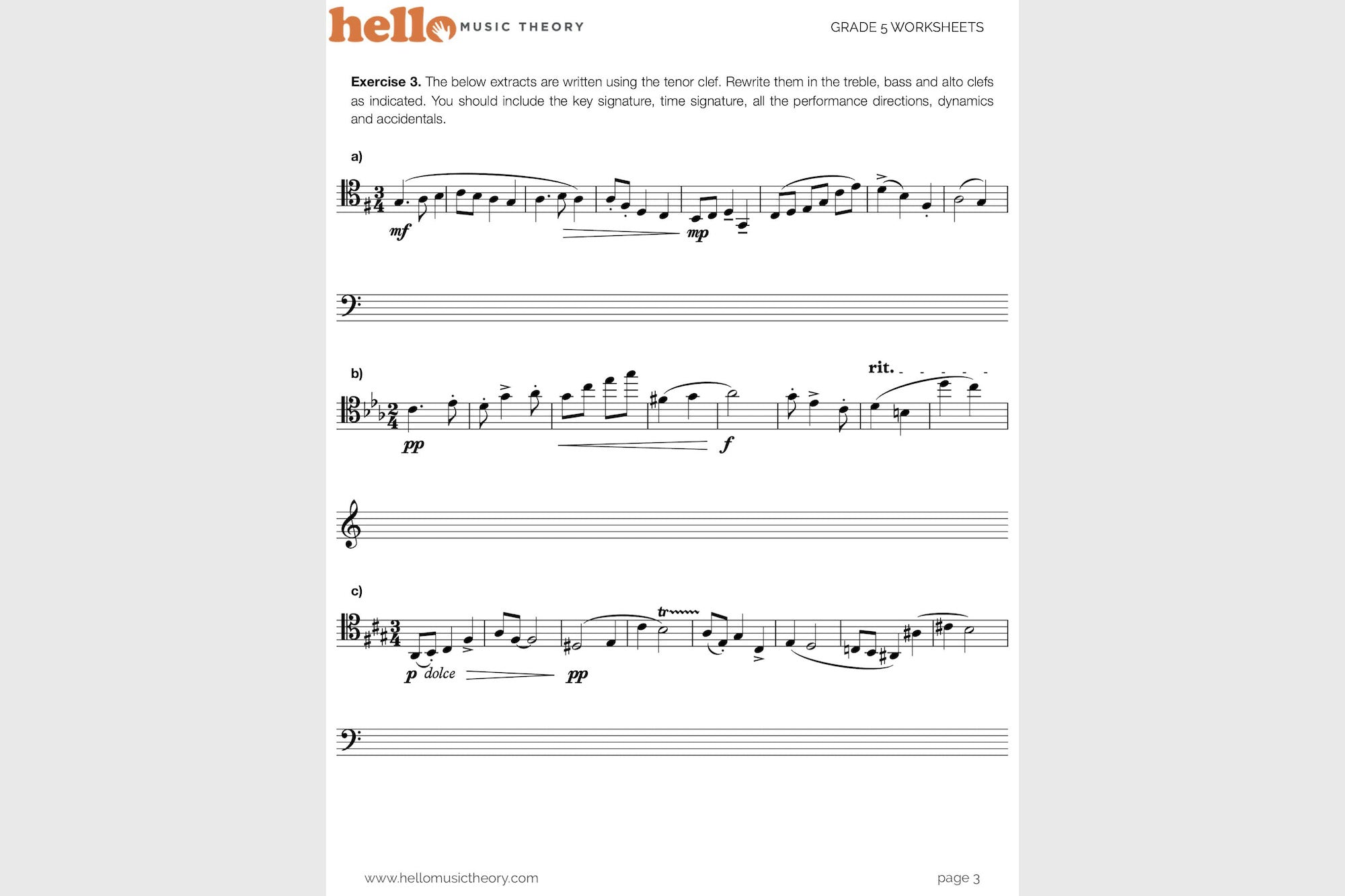 Grade 5 Music Theory Worksheets Hello Music Theory