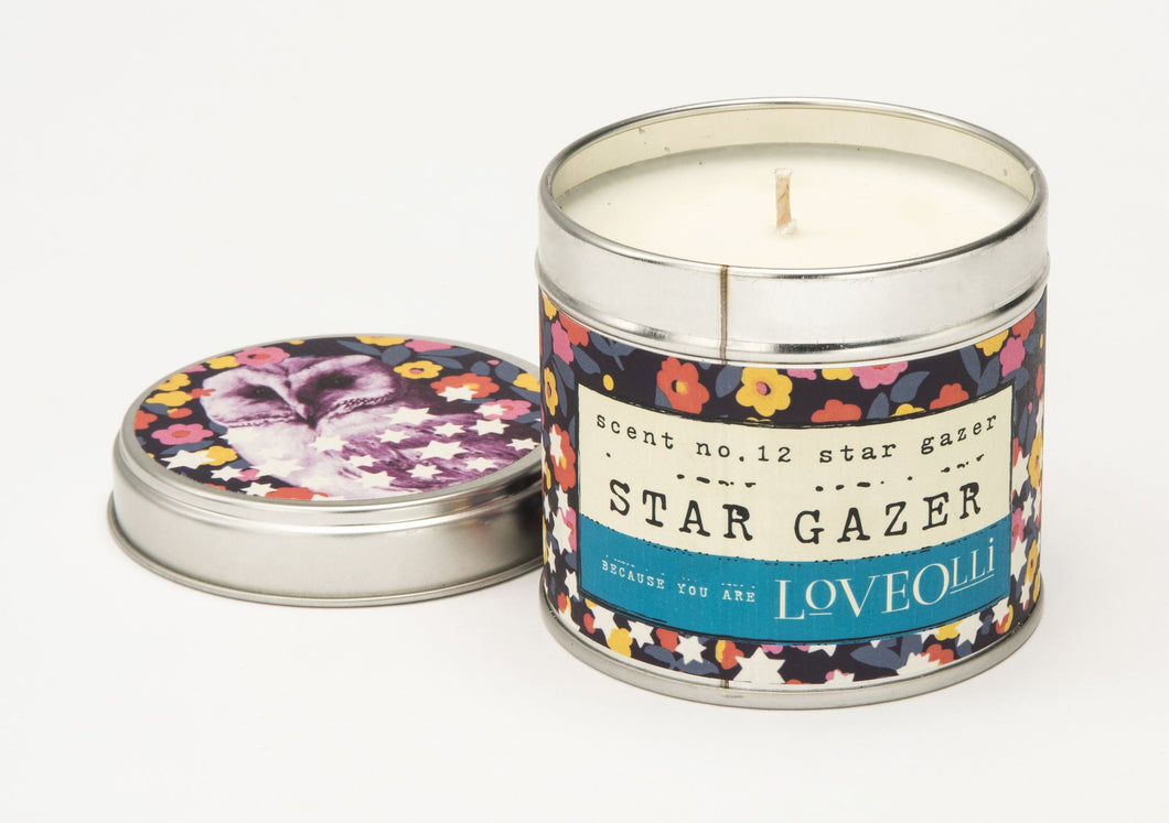 LoveOlli Star Gazer Scented Candle In A Tin