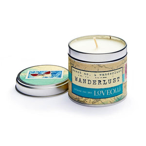 LoveOlli Wanderlust Scented Candle In A Tin