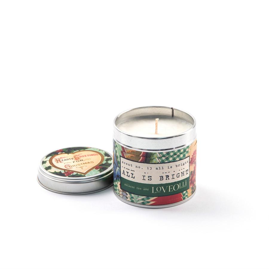 LoveOlli All is Bright Scented Candle In A Tin