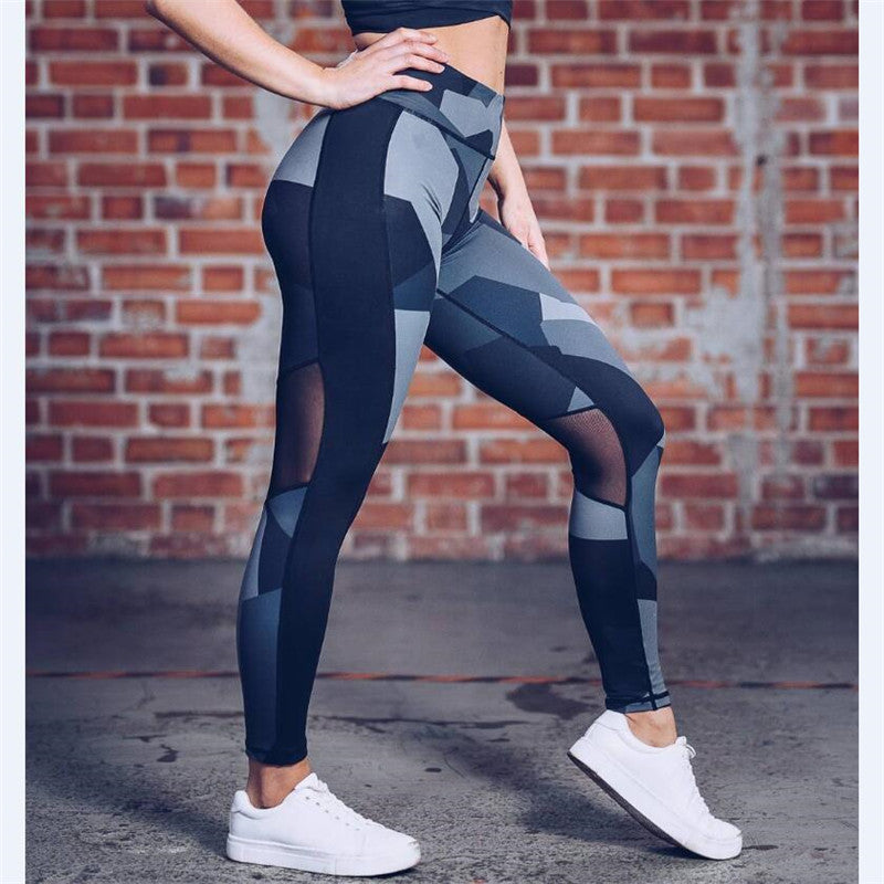 'Shard' Mesh Patterned Leggings / Yoga Pants