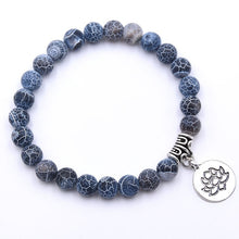 Load image into Gallery viewer, Natural Stone Lotus Bracelet