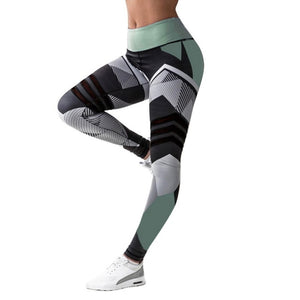 'Glacier' Patterned Leggings / Yoga Pants