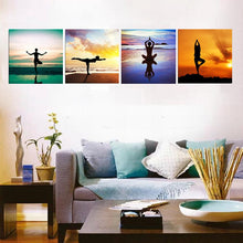 Load image into Gallery viewer, 'Magic Four' Yoga Poses Wall Canvas