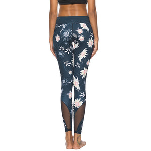 'Cassini' Floral Mesh Leggings / Yoga Pants