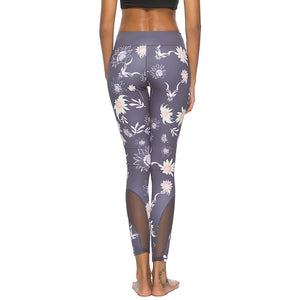 'Lantana' Floral Mesh Leggings / Yoga Pants