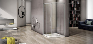 Quadrant Shower Enclosures,various sizes,corner entry,sliding double doors