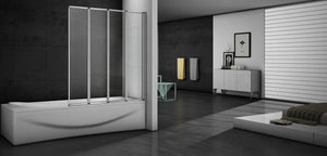 folding bath shower screen,bifold shower screen over bath,1 fold|2 folds|3 folds|4 folds|5 folds