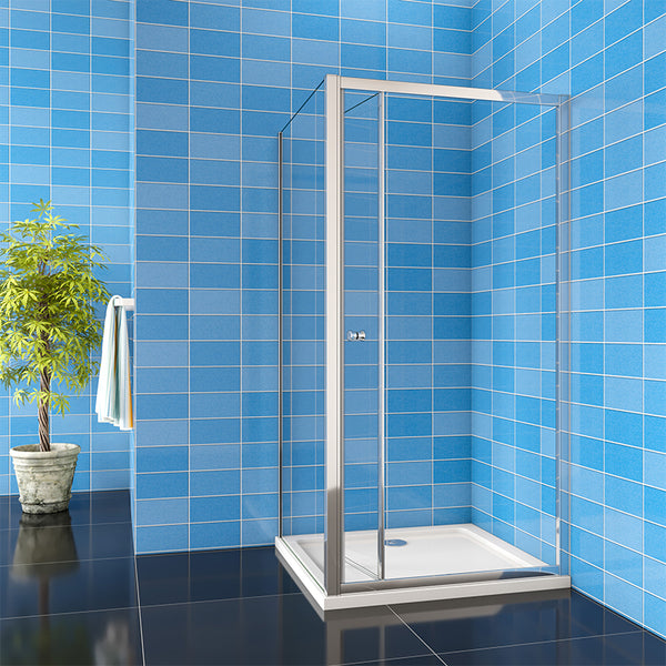 185cm Bifold shower Door Side Panel Rectangle Enclosures 70 - 100cm