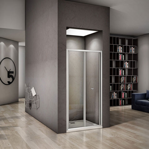 700-1000mmx1850mm bifold shower door,Shower Stone tray Optional