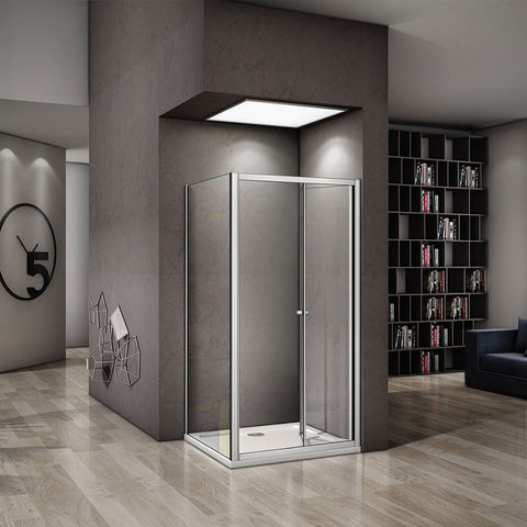 700-1000mmx1850 bifold shower rectangle enclosures,Shower Stone tray Optional