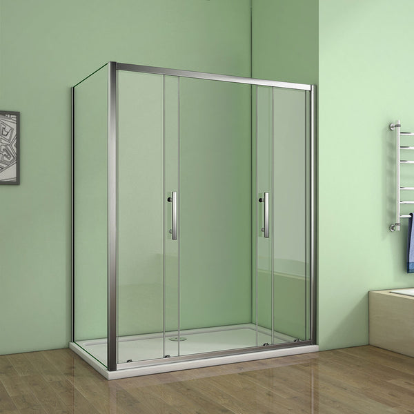 Luxury 1200mm Chrome Sliding Door,700-900mm side panel Shower Enclosures