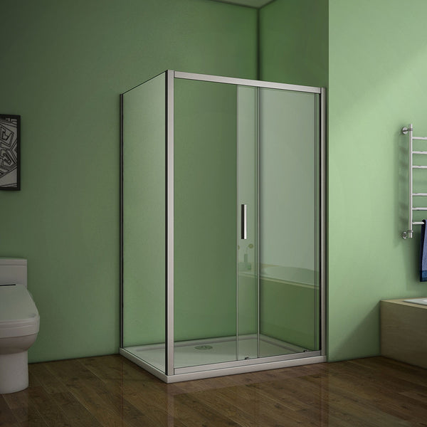 1000-1400x1850mm sliding shower door,700-900mm side panel,Tray Available