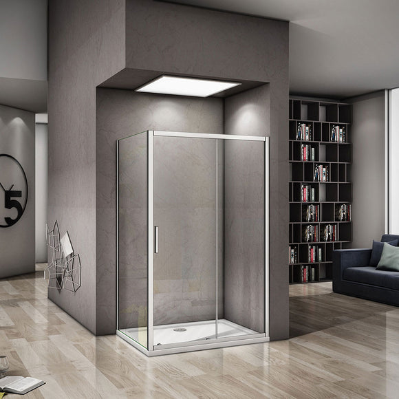 1000x1850mm sliding shower door,700-900mm side panel,Tray Available