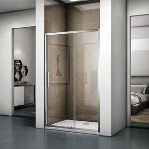 Bathroom Glass Shower Door Sliding Door 185cm 190cm 195cm Height Bath