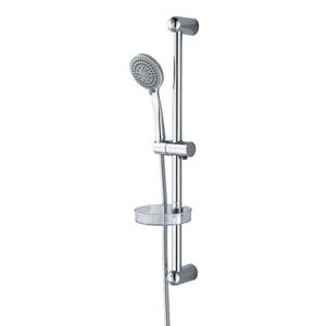 AICA Adjustable Chrome Shower Slider Riser Rail Bar Kit Set Modern Head & Hose Holde