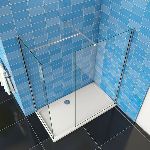 Walk in Shower enclosure Wet Room 8mm shower screen EasyClean NANO Glass 1900mm height