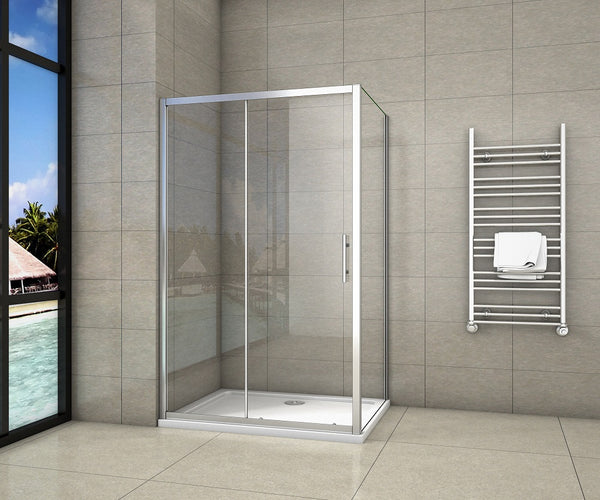 1000-1700mm Chrome Sliding shower Door rectangle enclosures