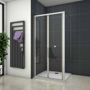 190 cm H bifold shower Door rectangle enclosures 70 - 100cm
